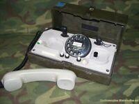 Telefono da campo TEDESCO con combinatore BUND KRONE type WF
