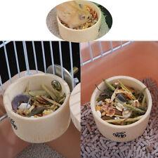 2pcs Hamster Bowl Guinea Pig Food Bowl Rabbit Feeder Bamboo Bowl For Pets