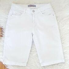 Dorothy Perkins Women's Shorts White Size 6 Cotton Mix Denim Casual VGC
