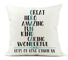 Personalised Grandad Cushion, 50th/60th/70th Birthday, Father's Day Gift