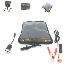 Solar Portable Panel Battery Charger with usb 12V 7Watt 5V mp3 car boet outdoor