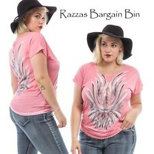 New Ladies Gorgeous Pink Top Plus Size 16/1XL (9807)LL