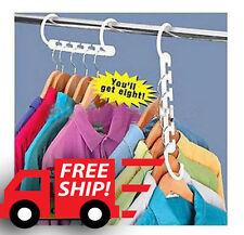8 pcs Wonder Magic Hanger Clothes Closet Organize Hook FREE SHIPPING