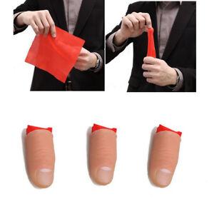 3Pcs Soft Thumb Tip Finger Fake Magic Trick Vinyl Toy Fun Joke Prank Props