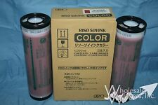 2 Genuine Riso S-4393 Marine Red Ink OEM Risograph GR RC RA FR RP RN RP3700