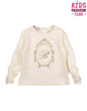 Blumarine Baby T-Shirt Top Size 6M Rhinestoned Logo Made in Italy