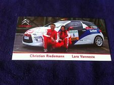 CP POSTCARD CARTOLINA CITROEN DS3 CHRISTIAN RIEDEMANN RALLY WRC RALLYE 2014
