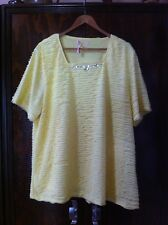 STYLISH MILLER WOMEN YELLOW STEP LAYERED TOP SIZE: 22 NWOT RRP:$49.99