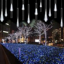 LED Meteor Shower Rain Lights 30cm 8 Tubes Falling Rain Drop Christmas - AveyLum