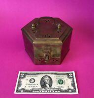 ⭐️VintageINDIA Hammered Tooled Brass Trinket Box Potpourri Cricket Cage