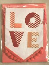"""Love Pennant Banner Papyrus Valentine's Day Card BEATLES """"All You Need is Love"""""""