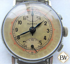 Serviced Vintage Olympic Watch Co R. GSELL & CO Inc. Chronograph Venus 170 60s