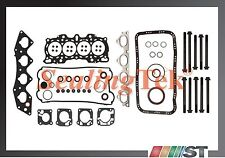 Fit 97-01 Honda CR-V 2.0L B20B4 B20Z2 Engine Full Gasket Set w/ Head Bolts Kit