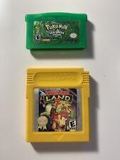 Authentic Pokemon Leaf Green Nintendo Game Boy GBA & Donkey Kong Land 2 TESTED