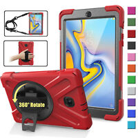 """Shockproof Rotating Hard Stand Case for Samsung Galaxy Tab A 8.0"""" (2018) SM-T387"""