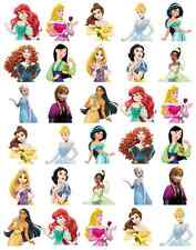 30 X Princesa Disney medio cuerpo Stand Up Comestible Cupcake Toppers Hada Cake Topper