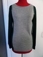 Ladies AQUASCUTUM LONDON Grey Jumper (100% Wool) - UK 8 / XS