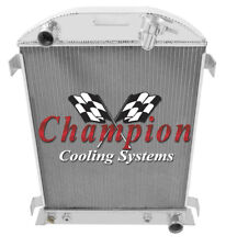 2 Row Performance Champion Radiator for 1932 Ford High Boy Chevy Configuration