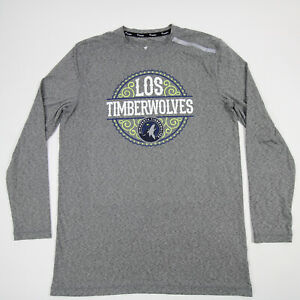 Minnesota Timberwolves Fanatics  Long Sleeve Shirt Men's Gray New without Tags