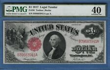 *EXTREMELY FINE 1917 $1.00 LEGAL TENDER WASHINGTON Fr#36 - 40 PMG*