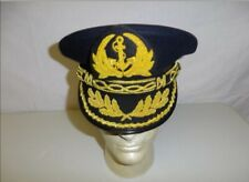 b9567-7 Vietnam RVN Navy Admiral Visor Hat Blue all sizes R23E
