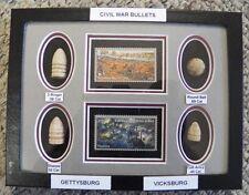 Civil War Bullets - Commemorative Stamp Of Gettysburg & Vicksburg - 150th Anniv.