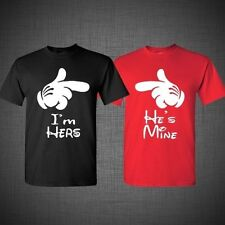 Matching t-shirts. T shirts for couples. Disney shirts. She's mine, He's mine. Affordable couple tees. Fashion matching shirt