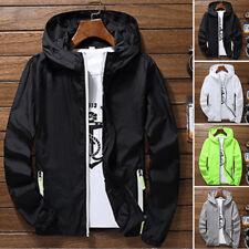 Waterproof Windproof Jacket Mens Ladies Lightweight Rain Coat Outdoor Sports Hot