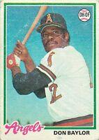 1978 TOPPS MLB BASEBALL CARD PICK SINGLE CARD YOUR CHOICE