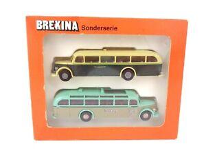 Brekina 1:87 Scale HO Vehicle Bundle Mercedes Touring Bus Boxed Set