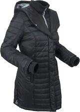 Kurz-Steppmantel Gr. 42 Schwarz Damen Kapuzen-Mantel Parka Winter-Jacke Neu*