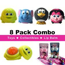 8 BeBe Bartoons Lip balms: 4 animals plus 4 refill packs