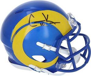 Autographed Cooper Kupp Rams Mini Helmet Fanatics Authentic COA Item#10721429