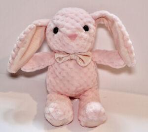"""Kellytoy Bunny Rabbit Plush Pink Textured Toy Animal Kids Toy Soft Lovey 10"""""""