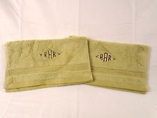 """The Company Store- Legends 700 Egyptian Towels(2ct)- VH57 """"RAR"""" Green Herb- 278E"""