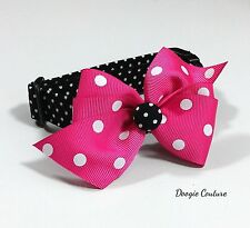 Black Dots Dog Collar Size XS-L by Doogie Couture