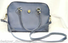 Liz Claiborne Purse Bucket Tote Satchel Navy Blue Gold Buckle shoulder bag VTG