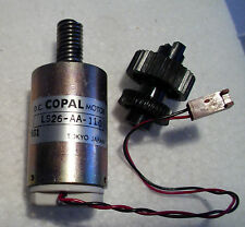 D.C. Copal Japan LS26-AA-110 6G1 Electric Motor Fitted Worm + Gear Wheel New