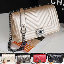 Women's Ladies Quilted chain handbags purses shoulder Clutch Tote bags Fashion