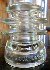 HEMINGRAY-56 35-55 CD203 EIN010 Clear Double Grooved Glass Insulator c1947-60s