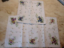 12 mouchoirs femme 100% coton tissées festonnés n°235