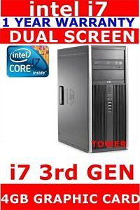HP i7 3770 3rd GEN COMPUTER PC 1TB  SSD 16GB RAM USB 3 , 4GB K2200 GRAPHIC CARD