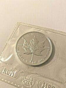 Kanada 5 Dollar Silver Maple Leaf 1998 Silber Münze 1 oz, 999 in Münzhülle
