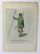 1772 Inuit Eskimo NATIVE AMERICAN Hand Colored Print by Thomas Jefferys Eskimaux