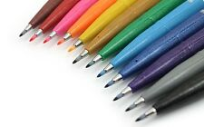 Pentel Fude Touch Brush Sign Pen - 4 Pens of Your Choice in 12 Colours