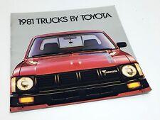 1981 Toyota SR-5 Long Bed Sport Standard Deluxe 4WD 3/4 Ton Trucks Brochure