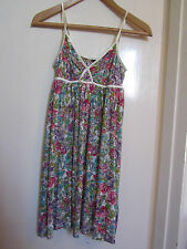 H&M Multicoloured Floral Sleeveless Micro Mini Dress Size 8 - NWOT