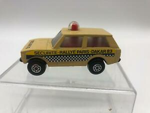 Lesney Matchbox Rotamatics England #20 1975 Police Patrol Pari Dakar Rally READ