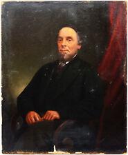 Biedermeier Portrait Herrenportrait Öl Papier Malkarton Feine Malerei 40 x 33 cm