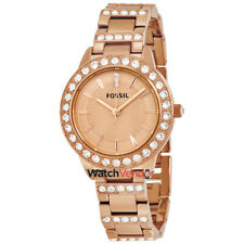 Fossil Jesse Crystal Rose Gold Dial Ladies Watch ES3020
